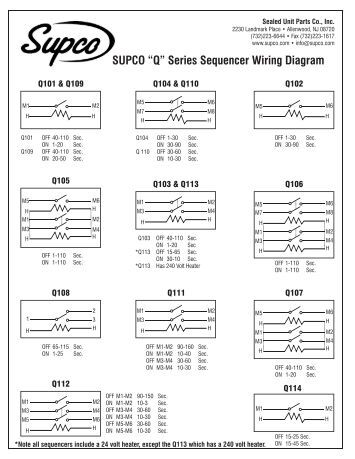 "wiring diagram for the sensarproÃ'® tv signal meter â€Å""q†series sequencer wiring diagram supco"