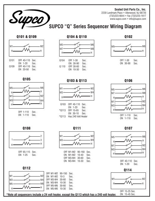 supco wiring diagram 19 sg dbd de \u2022u20ac q u20ac series sequencer wiring diagram supco rh yumpu com supco 3 in 1 wiring diagram supco rco410 wiring diagram