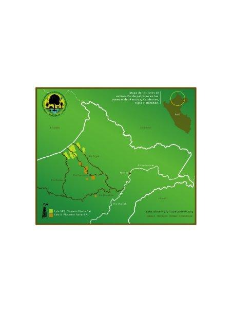 Contaminación petrolera en la Amazonía Norte - Carpeta 4 cuencas