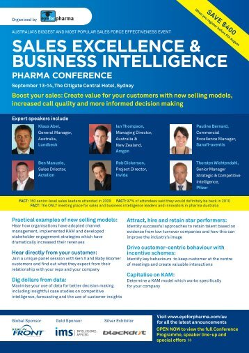 e & gence sales excellence & business intelligence pharma ...