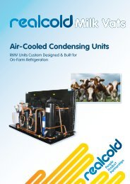 Air-Cooled Condensing Units Milk Vats - Realcold