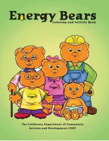 Energy Bears Coloring and Activity Book - I AM Mother Earth