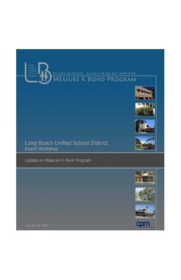 Bond Program Published Workbook - Long Beach Unified School ...