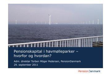 Torben Möger Pedersen, PensionDanmark (pdf)