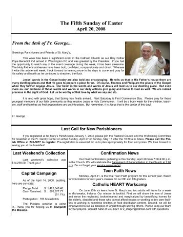 The Fifth Sunday of Easter - St. Mary Parish