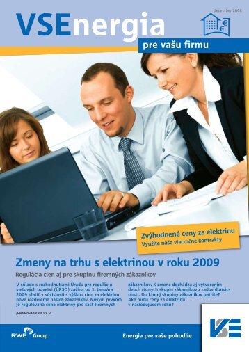 Zmeny na trhu s elektrinou v roku 2009 - Východoslovenská ...