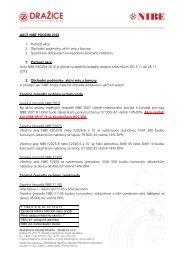 AKCE NIBE PODZIM 2012 1. Platnost akce 2. Obchodní podmínky ...