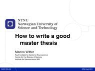 how to write a good master's thesis-lecture notes