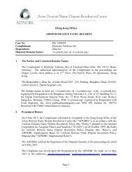 ADMINISTRATIVE PANEL DECISION Case No. HK-1300495 ...