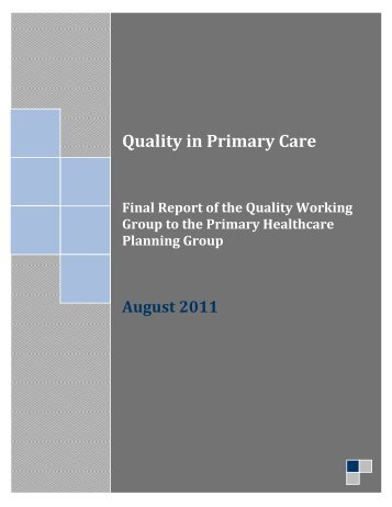 Quality in Primary Care - afhto