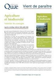 Agriculture et biodiversité - INRA Versailles-Grignon