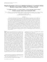 Mapping Quantitative Trait Loci in Multiple Populations of ... - Genetics