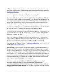 L'URGI, unité INRA de recherches en génomique info (31 ...
