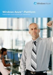 Windows Azure™-Plattform - Etis GmbH