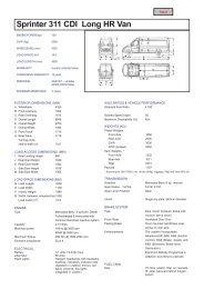 Sprinter 311 CDI Long HR Van - Vans