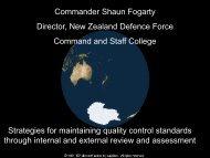 6. Presentation by Commander Shaun Fogarty (New Zealand). - ASEAN ...