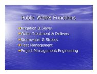 Public Works Functions - City of Snoqualmie