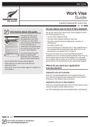 Work Visa Guide (INZ 1016) - New Zealand Immigration Service