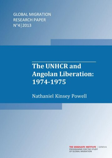 The UNHCR and Angolan Liberation - Graduate Institute of ...