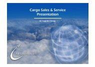 Cargo Sales & Service Presentation - Air Logistics Ltd