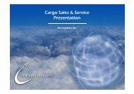 Cargo Sales & Service Presentation - Air Logistics USA