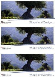 Flyer - Wurzel und Zweige - Freie Evangelische Gemeinde Einsiedeln