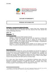 CD13 WS5 – Workshop 5 - Standing Commission of the Red Cross ...