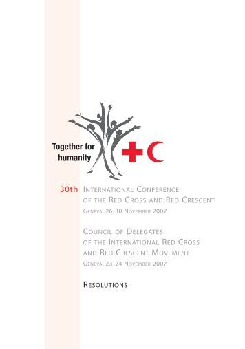 Resolutions - Standing Commission of the Red Cross and Red ...