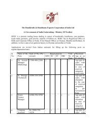 The Handicrafts & Handlooms Exports Corporation of India Ltd (A ...