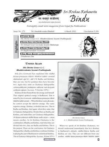 Sri Krishna Kathamrita Bindu - GopalJiu.org