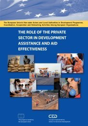 the role of the private sector in development assistance and ... - pasos