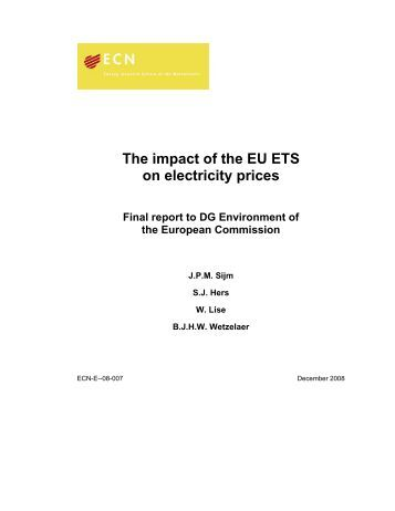 eu ets impact on electricity market The impact of the eu emissions trading scheme on between emissions trading and a wide range of energy and climate policies at the eu and size of market.