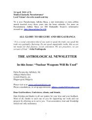 THE ASTROLOGICAL NEWSLETTER - Issue-05 - 2010 APRIL 24