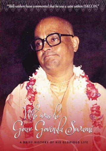 Get the pdf - Gour Govinda Swami