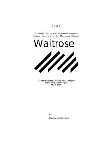 Waitrose - ANDiDAS.COM