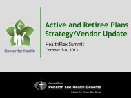 Active and Retiree Plans Strategy - Extranet
