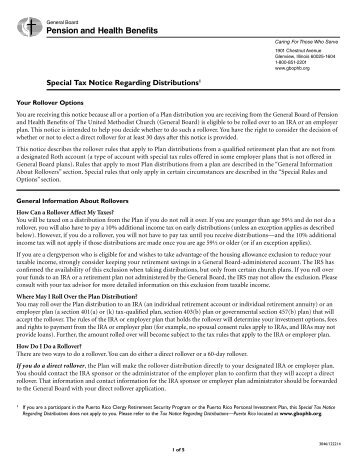 402(f) Notice of Special Tax Rules on Distributions - American Funds
