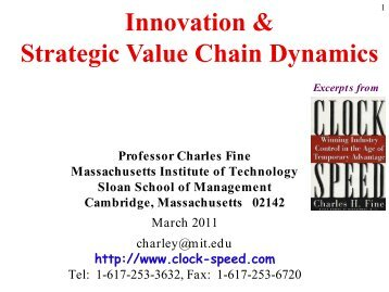 Innovation & Strategic Value Chain Dynamics - Global Strategic ...