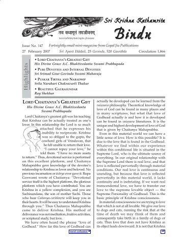 Sri Krishna Kathamrita - Bindu147 - ebooks - ISKCON desire tree