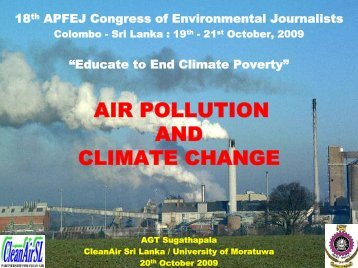 Air Pollution and Climate Change.pdf - Sri Lanka Environmental ...