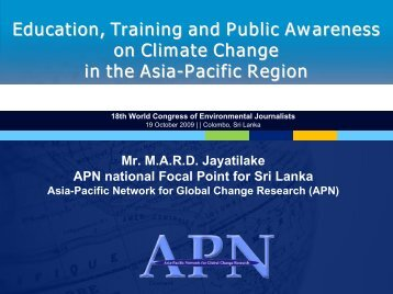 Title of Presentation - Sri Lanka Environmental Journalists Forum ...