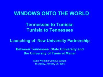 Tennesse to Tunisia - Crossingcultureshull.com
