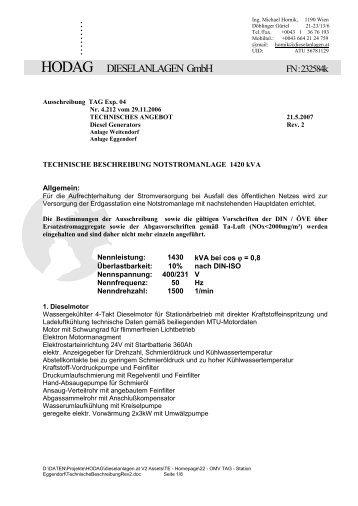Aktuelle Briefvorlage Hodag Dieselanlagen Gmbh