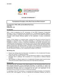 CD13 WS1 – Workshop 1 - Standing Commission of the Red Cross ...
