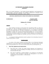 Department - The Andhra Pradesh Regulation and Penalization of ...