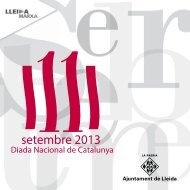 11 de setembre - Ajuntament de Lleida