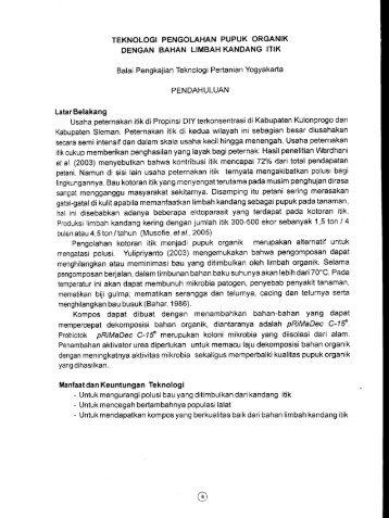 KLIK - BPTP Yogyakarta