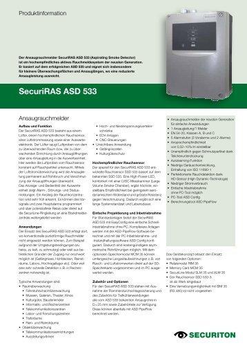 SecuriRAS ASD 533 - Securiton GmbH