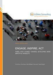 ENGAGE, INSPIRE, ACT - InSites Consulting