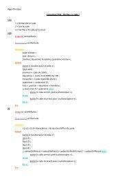 Algorithmique Correction TD6 : Vérifiez ce code ! 1.1) 1 = Demander ...